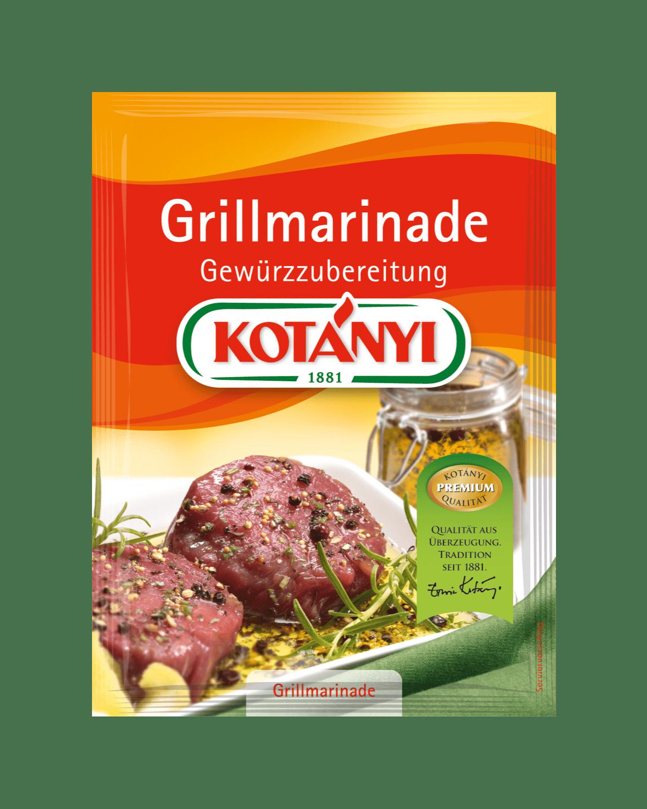 Kotányi Grillmarinade Gewürzzubereitung im Brief