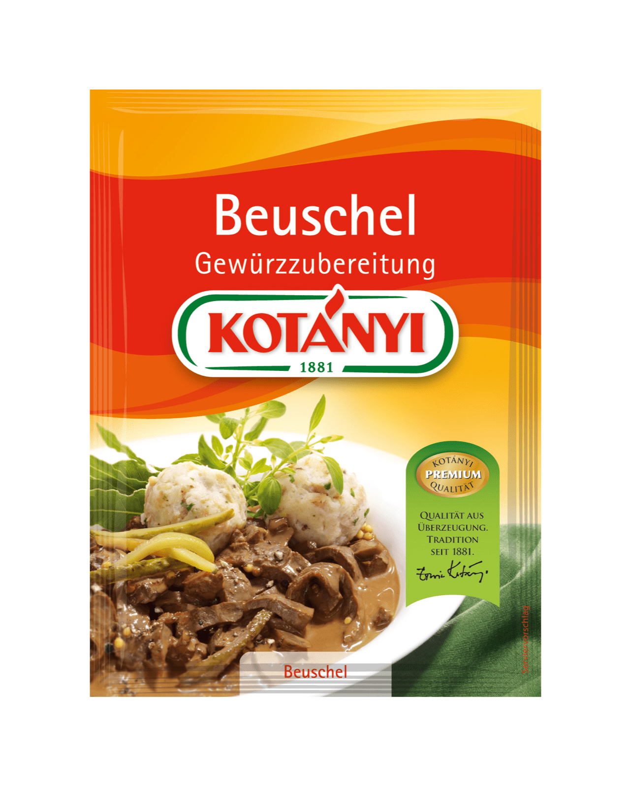 Kotányi Beuschel Gewürzzubereitung im Brief