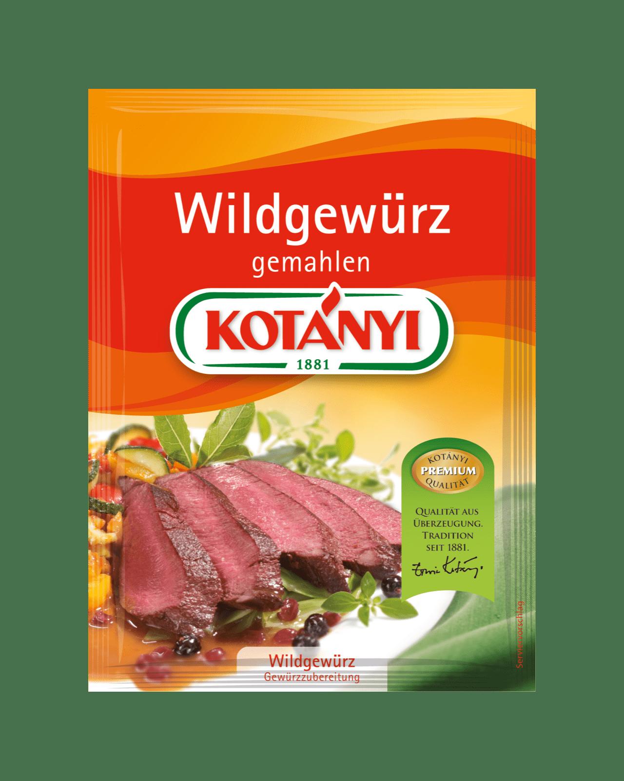 Kotányi Wildgewürz gemahlen im Brief