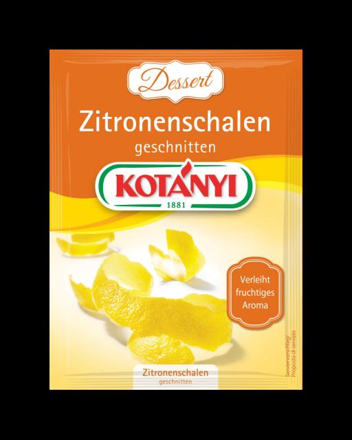 Kotányi Zitronenschalen geschnitten im Brief