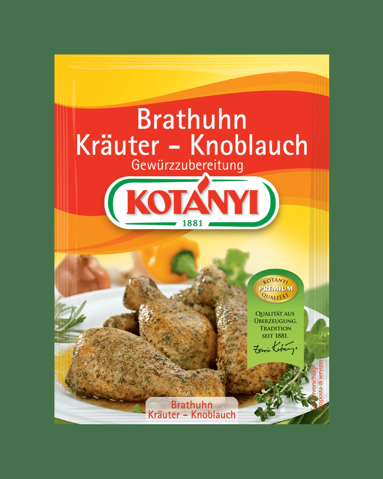 Kotányi Brathuhn Kräuter-Knoblauch Gewürzzubereitung im Brief