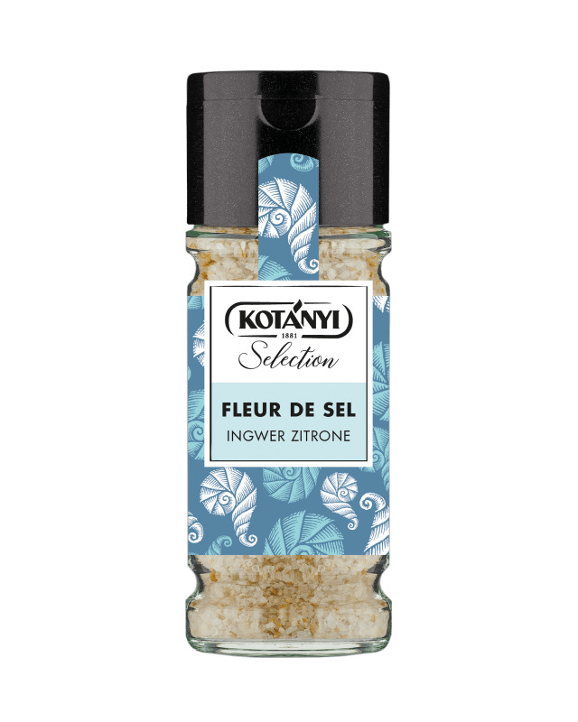 Kotányi Selection Fleur De Sel Zitrone Ingwer im 100ml Glas