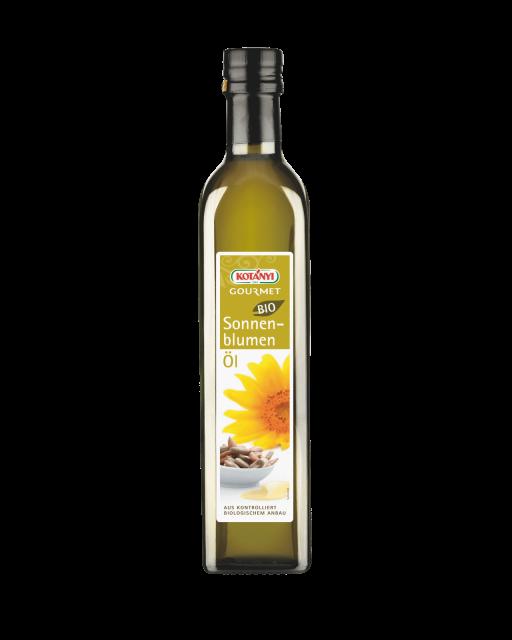 Kotányi Gourmet Bio Sonnenblumenöl in der 500ml Flasche