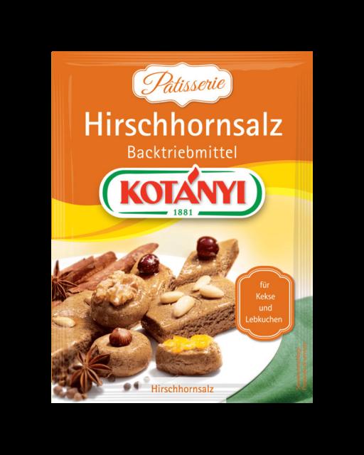 Kotányi Hirschhornsalz Backtriebmittel im Brief