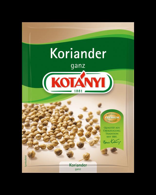 Kotányi Koriander ganz im Brief
