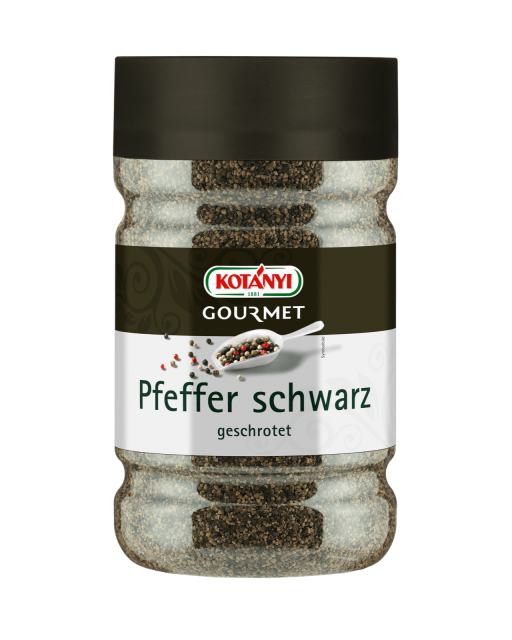 Kotányi Gourmet Pfeffer schwarz geschrotet in der 1200ccm Dose
