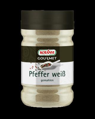 Kotányi Gourmet Pfeffer weiß gemahlen in der 1200ccm Dose