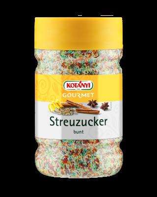 Kotányi Gourmet Streuzucker bunt in der 1200ccm Dose