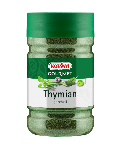 Kotányi Gourmet Thymian gerebelt in der 1200ccm Dose