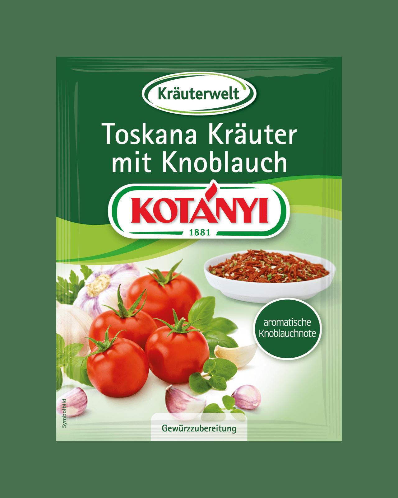Kotányi Toskana Kräuter mit Knoblauch im Brief