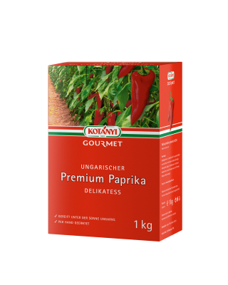 Kotanyi Gourmet Ungarischer Premium Paprika Delikatess 1kg Karton