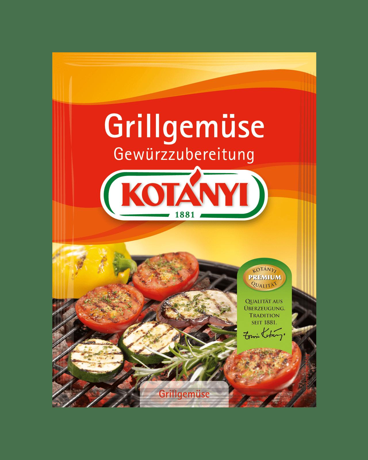 Kotányi Grillgemüse Gewürzzubereitung im Brief