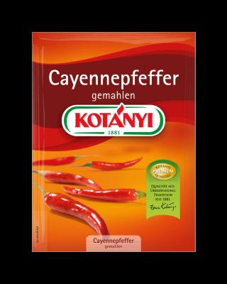 Kotányi Cayennepfeffer gemahlen im Brief