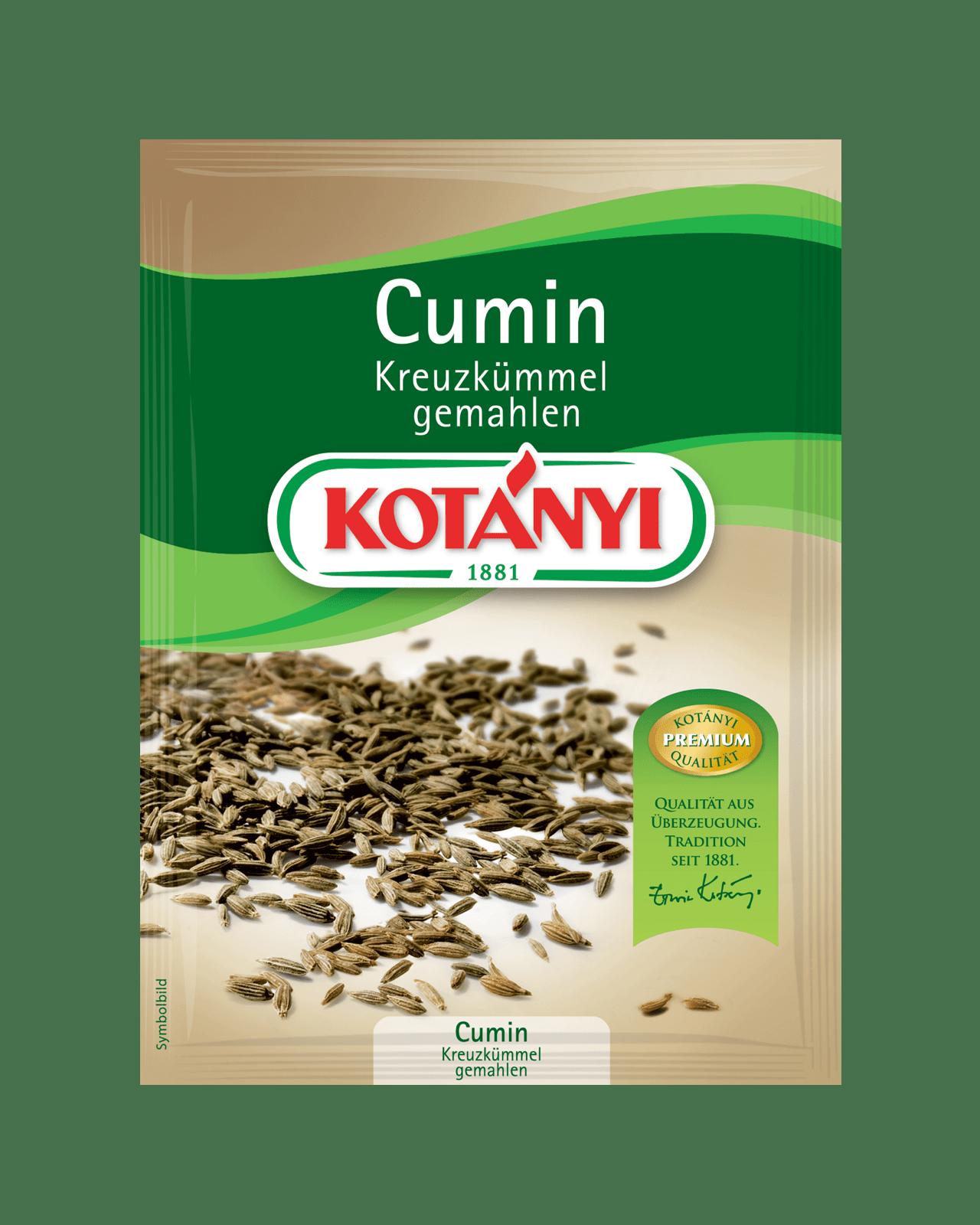 Kotányi Cumin Kreuzkümmel Gemahlen im Brief