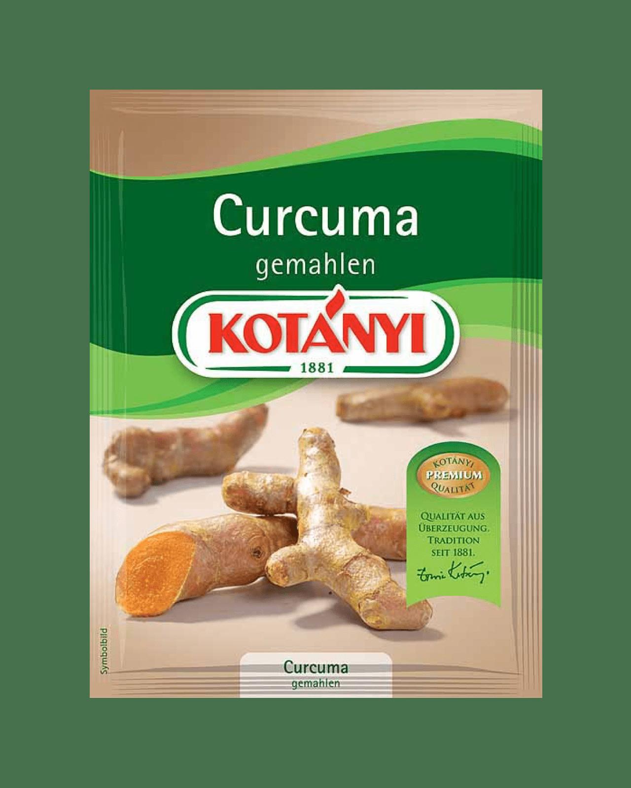 Kotányi Curcuma gemahlen im Brief