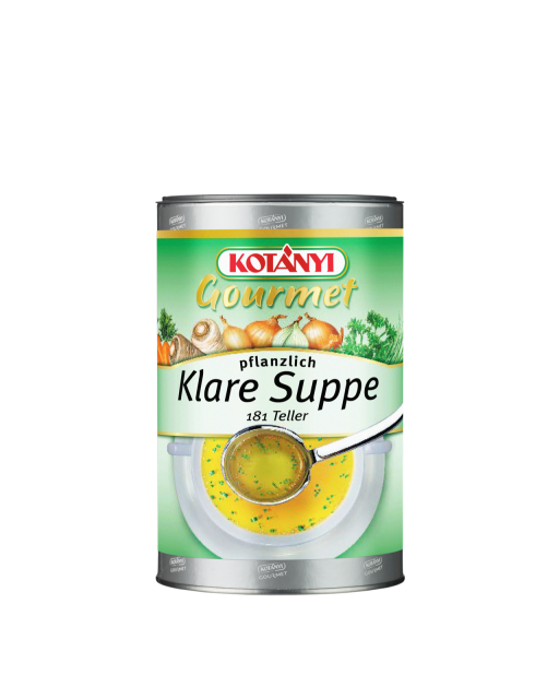 Kotányi Gourmet Klare Suppe pflanzlich in der 1kg Pappdose