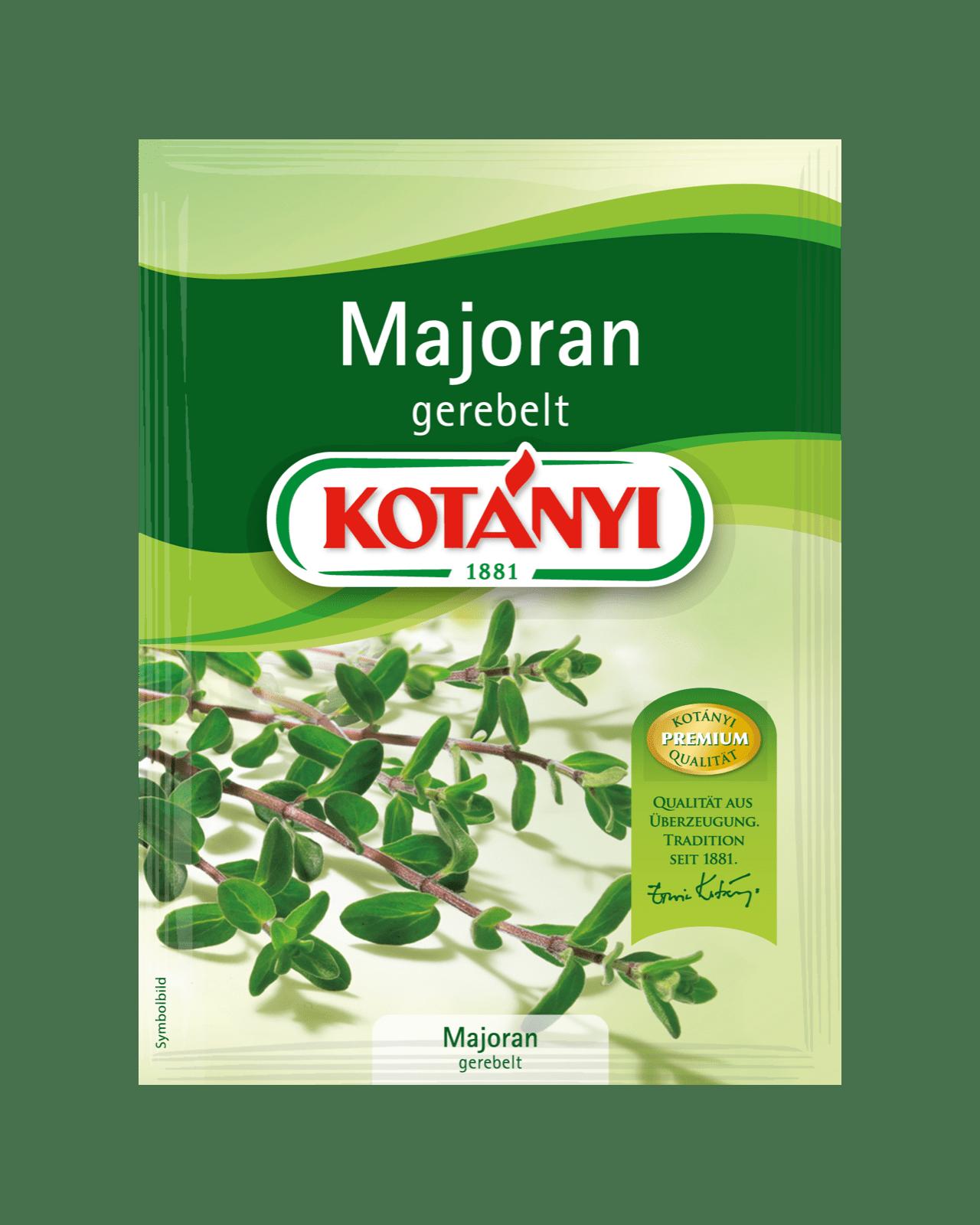 Kotányi Majoran gerebelt im Brief