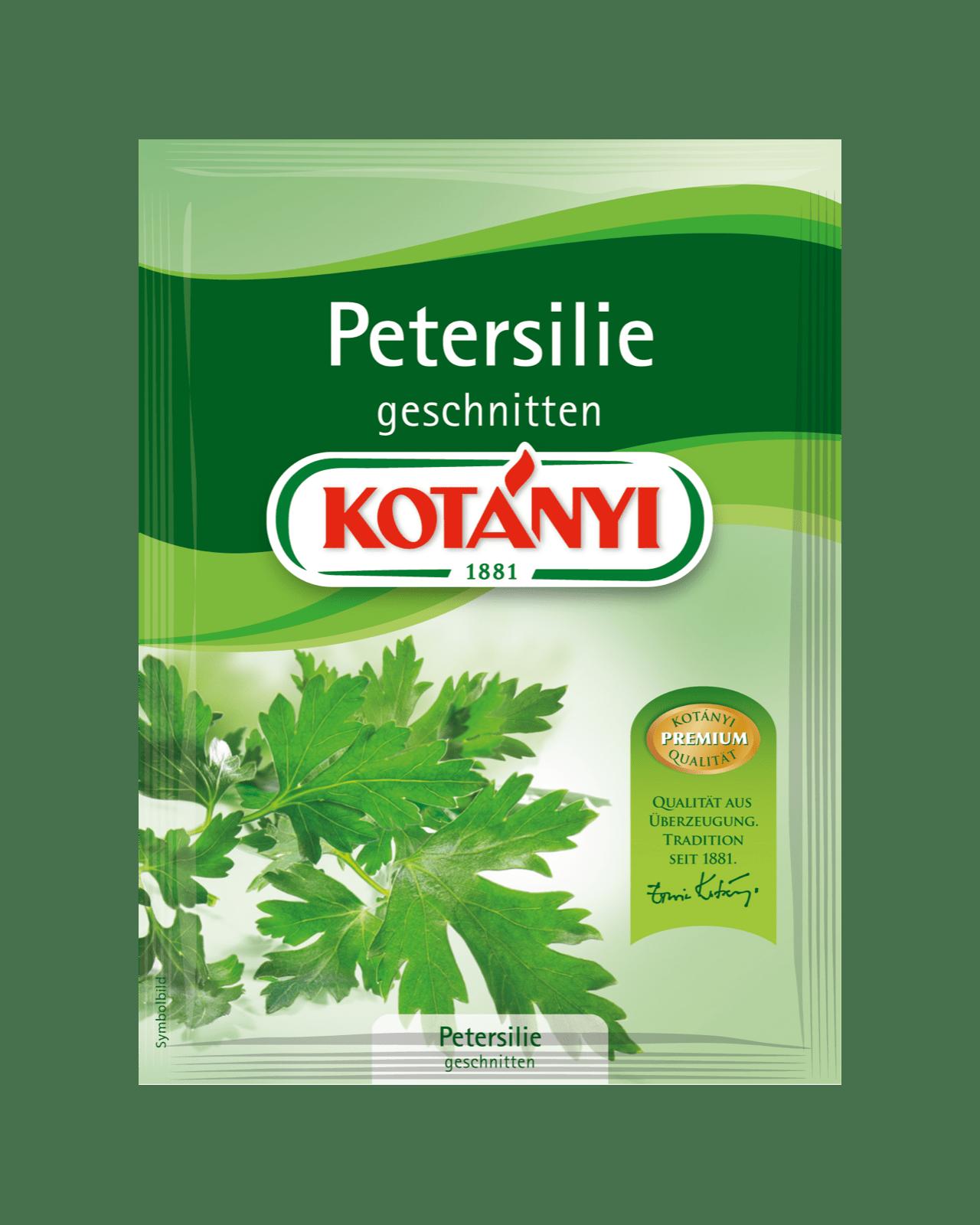 Kotányi Petersilie geschnitten im Brief