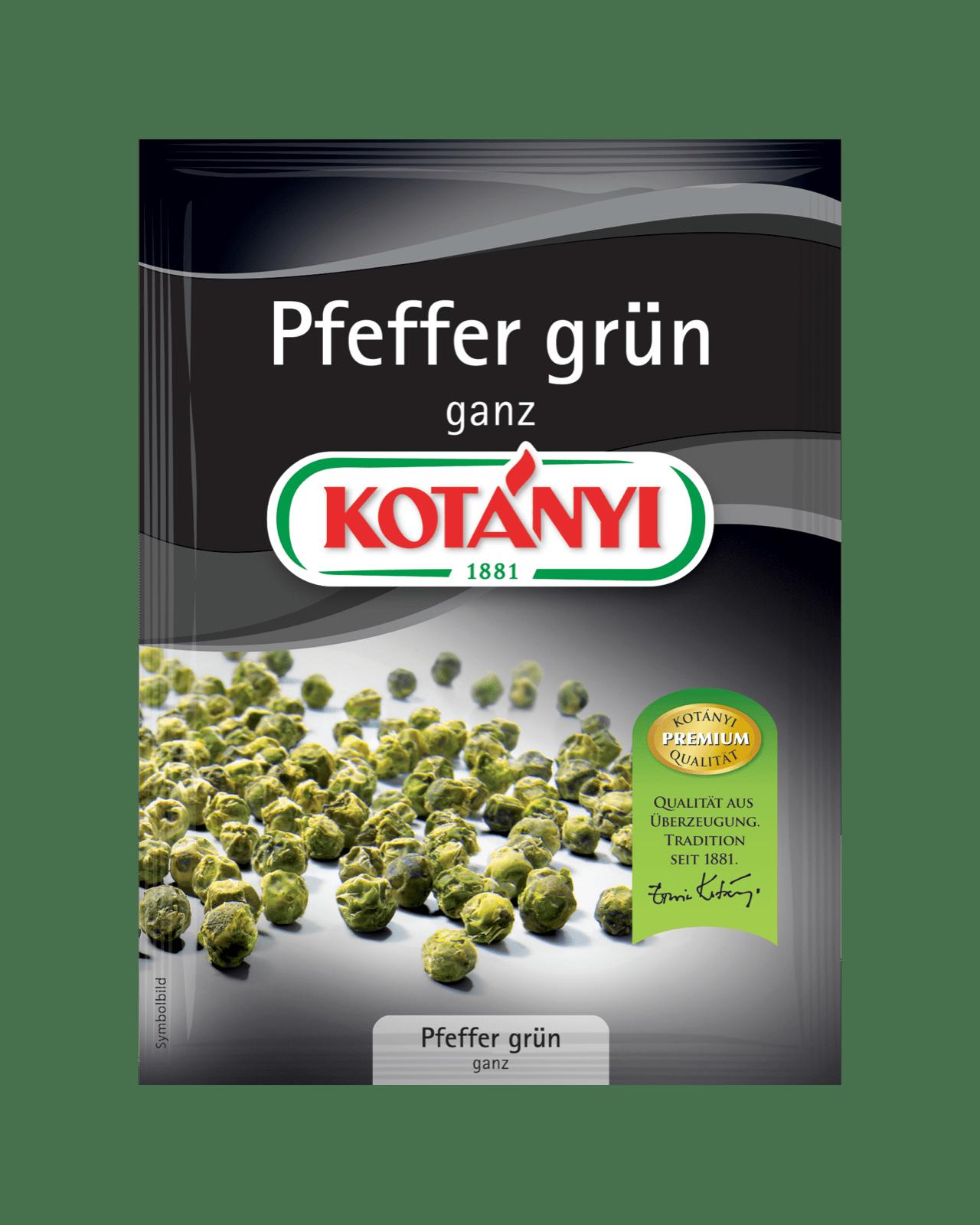 Kotányi Pfeffer grün ganz im Brief