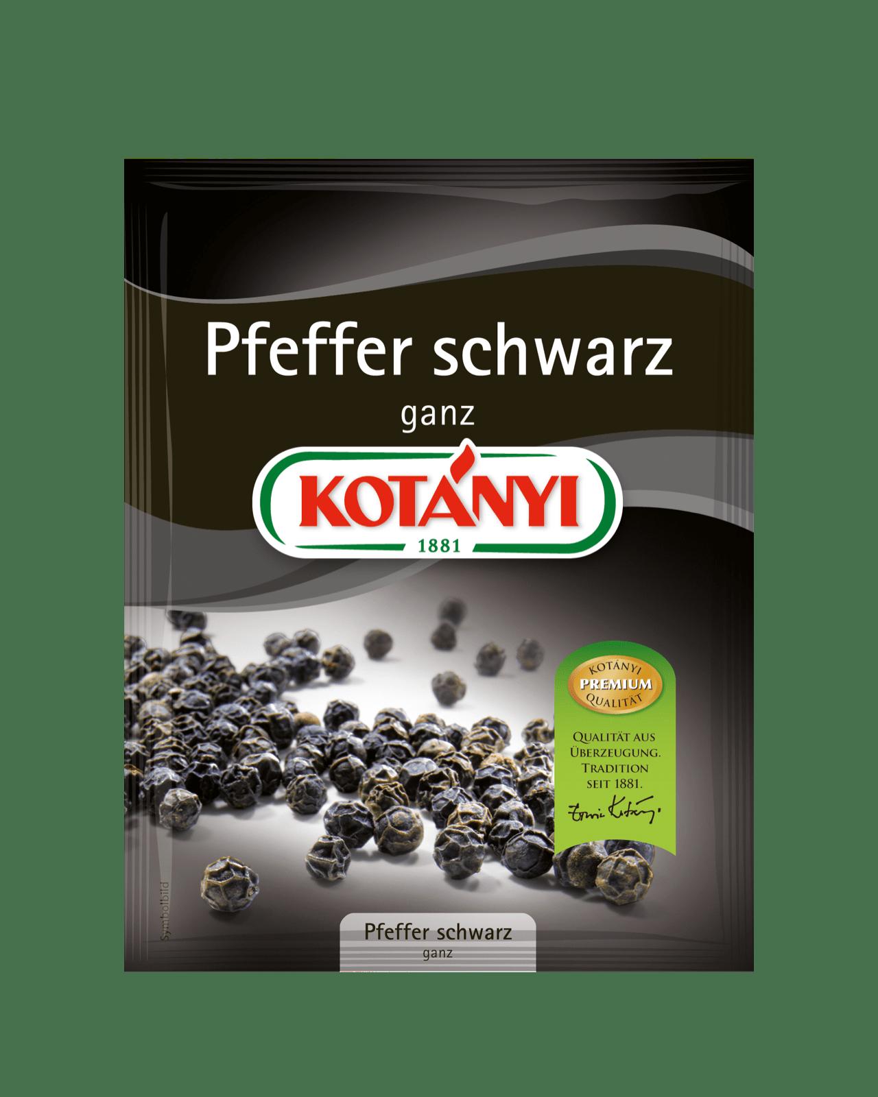 Kotányi Pfeffer schwarz ganz im Brief