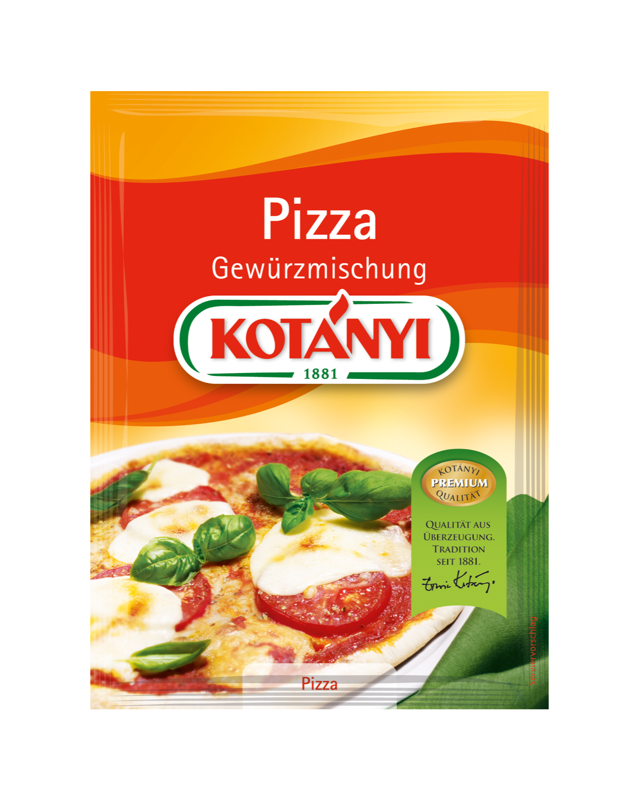 Kotányi Pizza Gewürzmischung im Brief