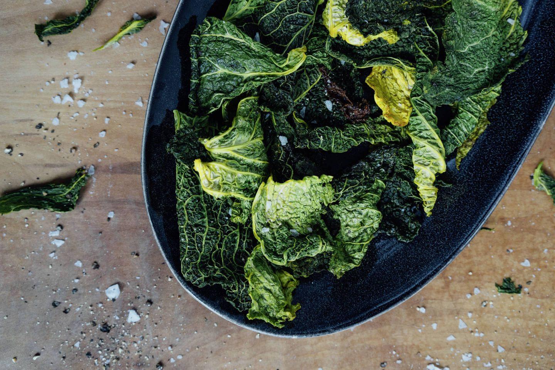 Grünkohlchips mit Curcuma