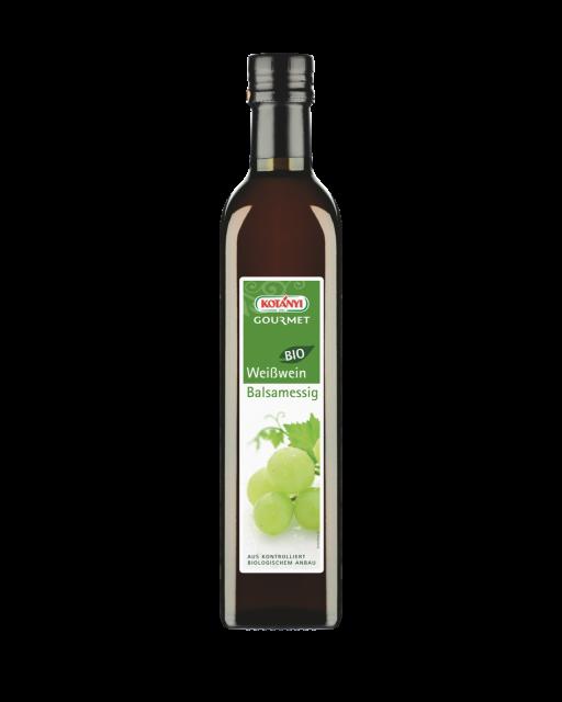 Kotányi Gourmet Bio Weißwein Balsamessig in der 500ml Flasche