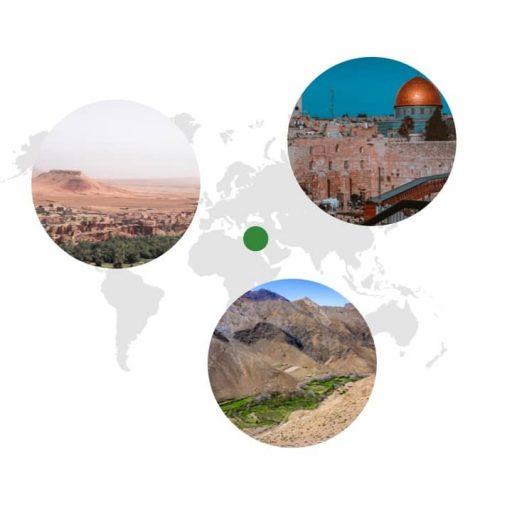 Ursprungsgebiet von Petersilie auf der Weltkarte: Mittelmeerraum