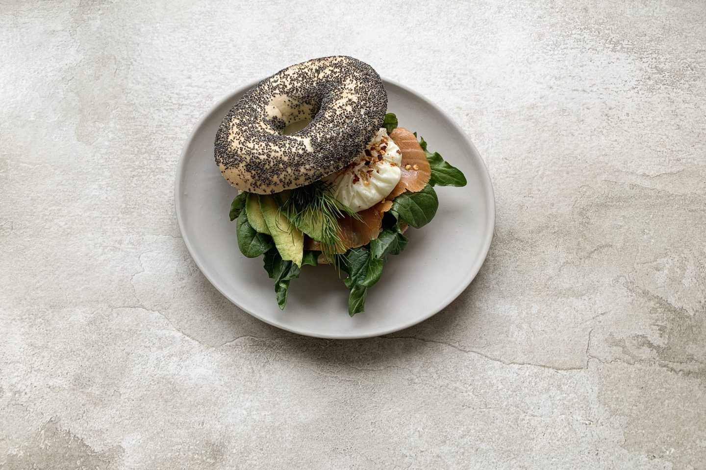 Salmon Avocado Bagel 4