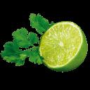 Limette mit Petersilie