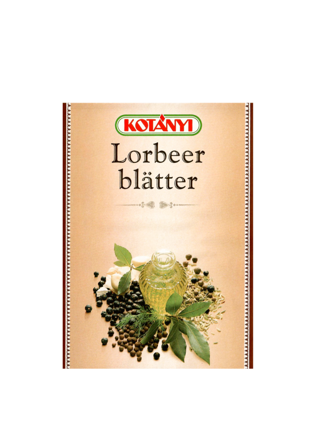A Kotányi sachet for bay leaves from the 1990s.