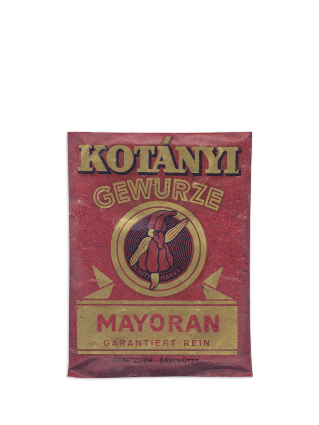 A Kotányi marjoram sachet from the 1950s.
