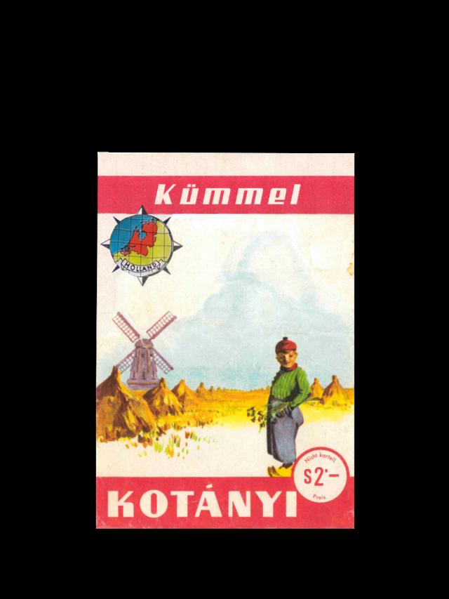 A Kotányi caraway sachet from 1961.