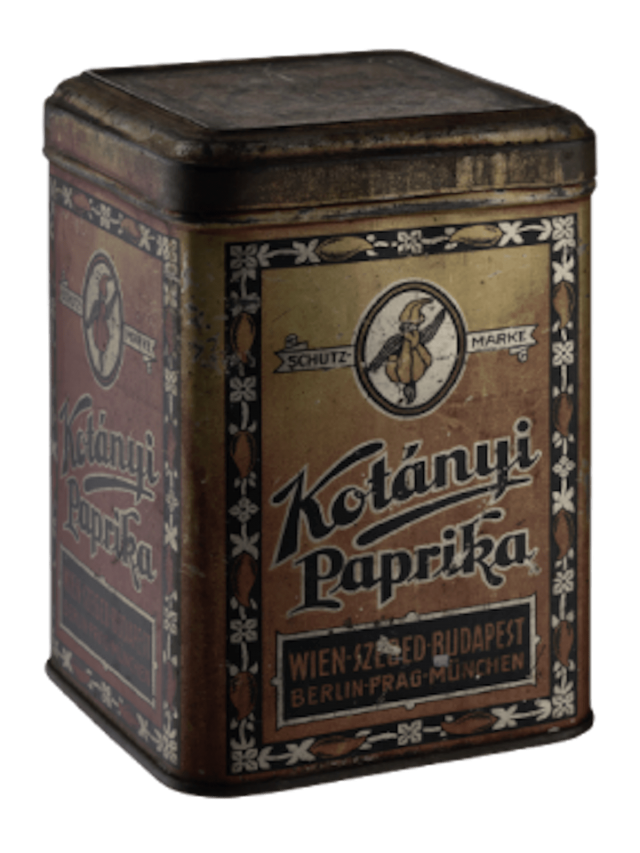 Kotányi spice packaging from 1896.