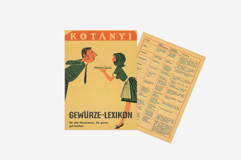 Kotányi spice glossary from 1970.