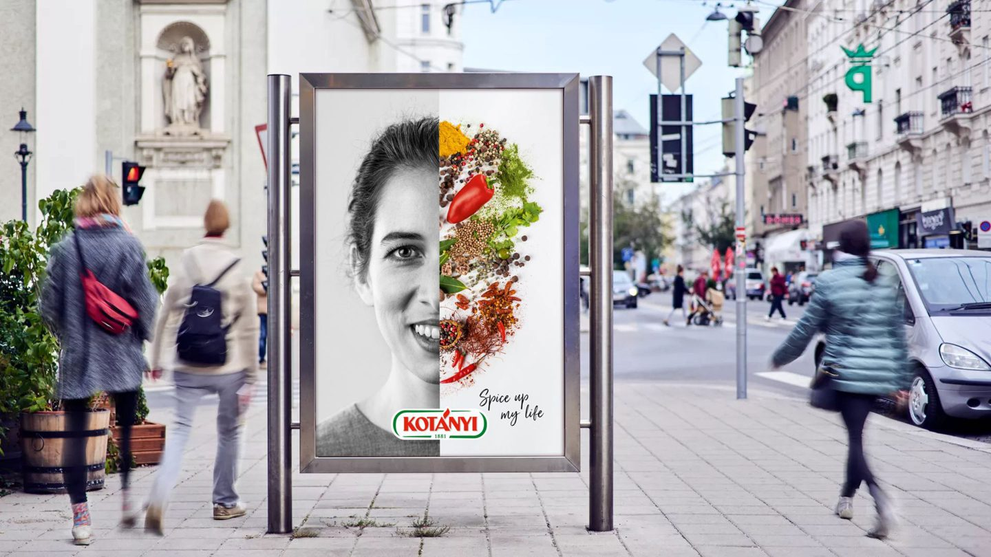 """Spice up my life"" Kotányi advert."